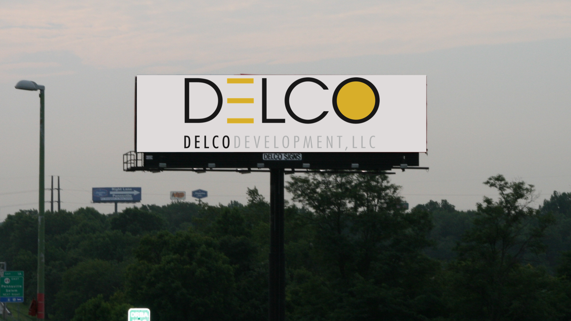 Billboard over trees