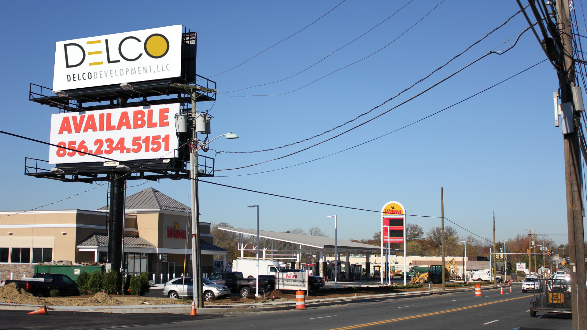 Billboard with Delco logo