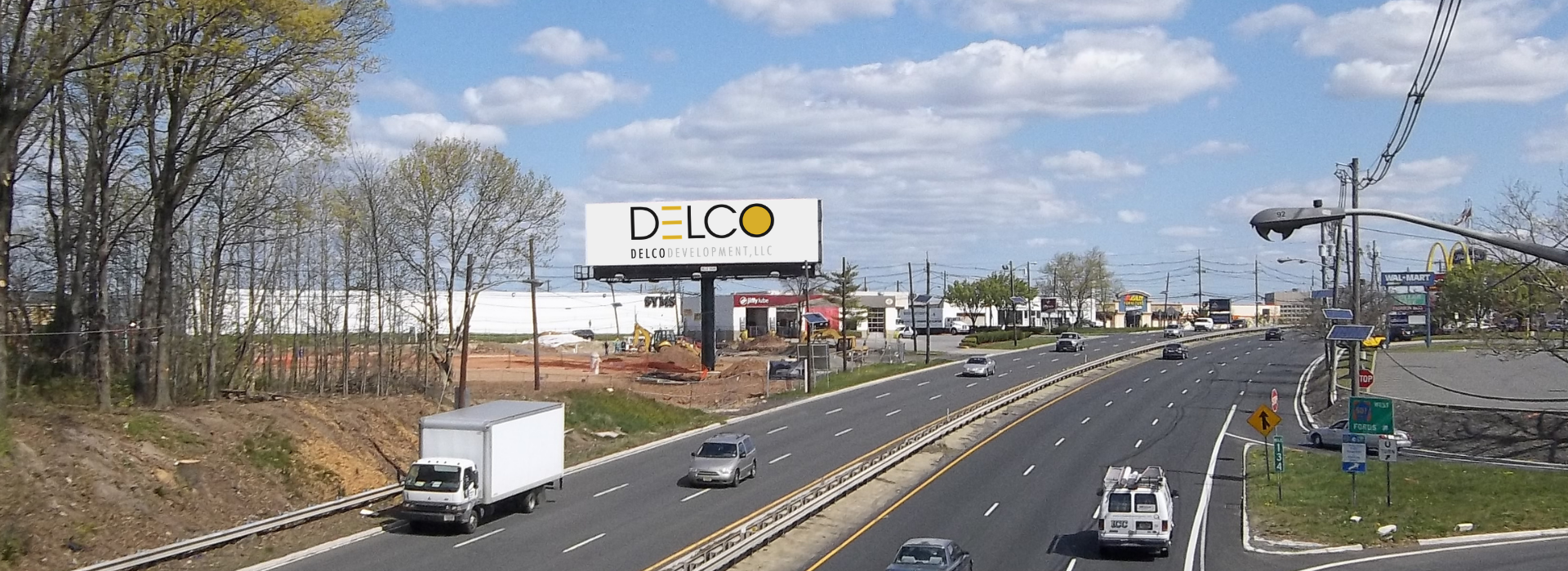 Billboard with clouds